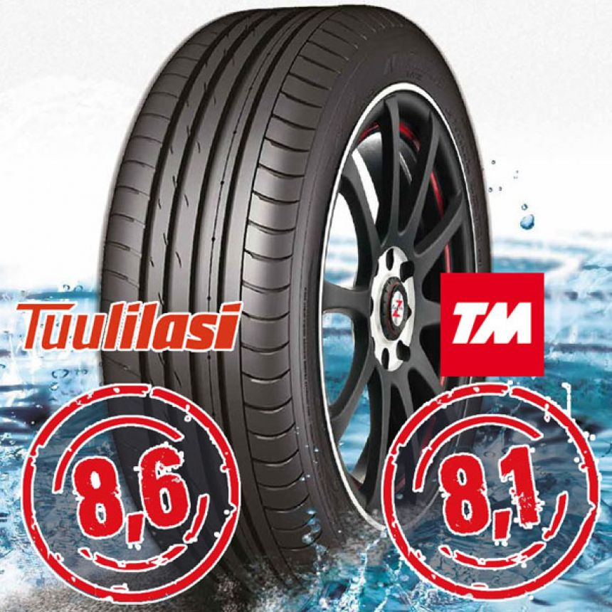 Sportnex AS-2+ TM- ja Tuulilasi-testimenestys 205/45-17 V