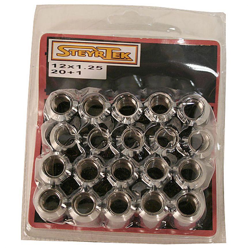 Tähtipääkolo aluvannemutterisarja 1,5mm nousu, 12mm, 20 kpl